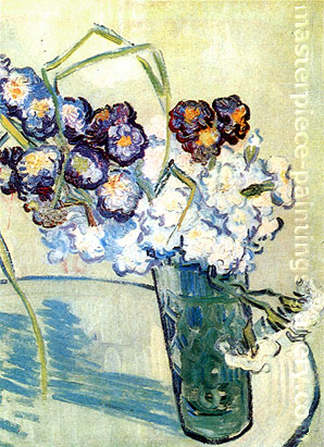 Vincent van Gogh, Still Life:Glass with Carnations, 1890, oil on canvas, 16.1 x 12.6 in. / 41 x 32 cm, US$310