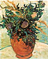 Vincent van Gogh, Still Life:Vase with Flower and Thistles, 1890, oil on canvas, 16.1 x 12.6 in. / 41 x 32 cm, US$260