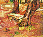 Vincent van Gogh, The Stone Bench in the Garden of Saint-Paul Hospital, November 1889, oil on canvas, 15.4 x 18.1 in. / 39 x 46 cm, US$200