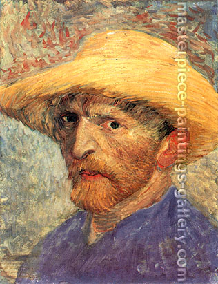 Vincent van Gogh, Self-Portrait with Straw Hat, Paris, Summer, 1887, oil on canvas, 24 x 18.3 in. / 61 x 46.4 cm, US$350