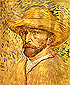 Vincent van Gogh, Self-portrait with Straw Hat, 1887, oil on canvas, 16 x 12.8 in / 40.6 x 32.6 cm, US$250