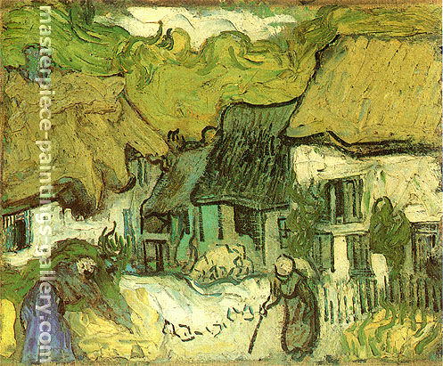 Vincent van Gogh, Thatched Cottages in Jorgus, 1890, oil on canvas, 13 x 16 in. / 33 x 40.5 cm, US$300