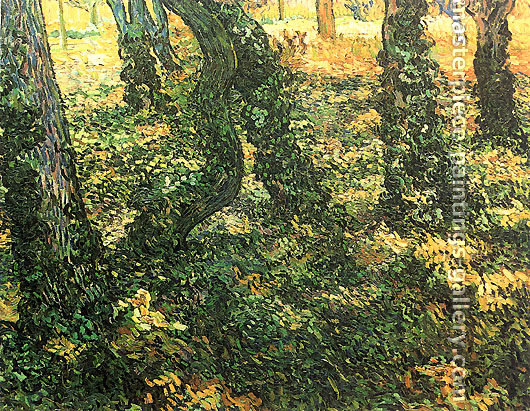 Vincent van Gogh, Tree Trunks with Ivy, 1889, oil on canvas, 28.7 x 36.4 in. / 73 x 92.5 cm, US$550