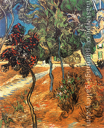 Vincent van Gogh, Trees in the Garden of Saint Paul Hospital, 1889, oil on canvas, 35.5 x 28.9 in. / 90.2 x 73.3 cm, US$550