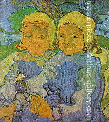 Vincent van Gogh, Two Children II, 1890, oil on canvas, 20.3 x 18.3 in. / 51.5 x 46.5 cm, US$320