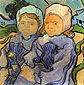 Vincent van Gogh, Two Children, 1890, oil on canvas, 20.2 x 20.1 in. / 51.2 x 51 cm, US$260