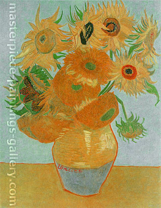 Vincent van Gogh, Still Life: Vase with Twelve Sunflowers, 1889,  oil on canvas, 36.2 x 28.5 in. / 92 x 72.5 cm, US$370