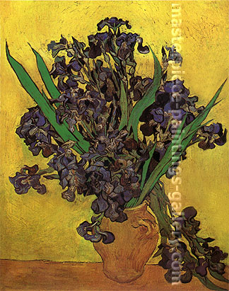 Vincent van Gogh, Vase with Irises, 1887, oil on canvas, 36 x 29 in / 91.4 x 73.5 cm, $550