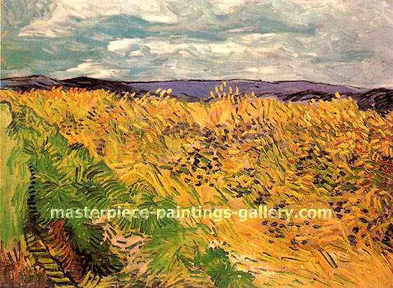Vincent van Gogh, Wheat Field with Cornflowers,1890, oil on canvas, 23.6 x 31.9 in. / 60 x 81 cm, US$320