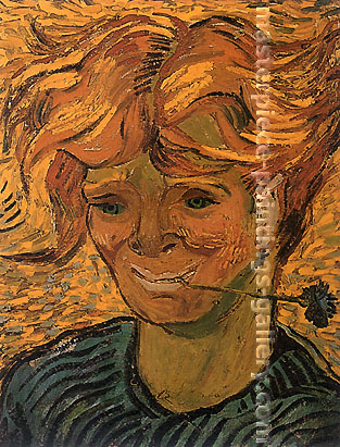 Vincent van Gogh, Young Man with Cornflower, 1890, oil on canvas, 15.4 x 12 in. / 39 x 30.5 cm, US$250