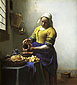 The Milkmaid, 1658-1660, oil on canvas, 32 x 28.9 in / 81.3 x 73.4 cm, US$295