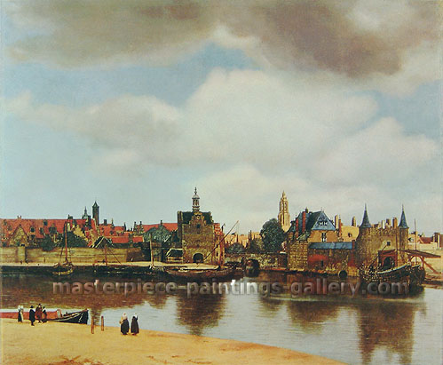 Jan Vermeer, View of Delft, 1660-1661, oil on canvas, 28.9 x 32 in / 73.5 x 81.3 cm, US$370