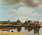 View of Delft, 1660-1661, oil on canvas, 28.9 x 32 in / 73.5 x 81.3 cm, US$370